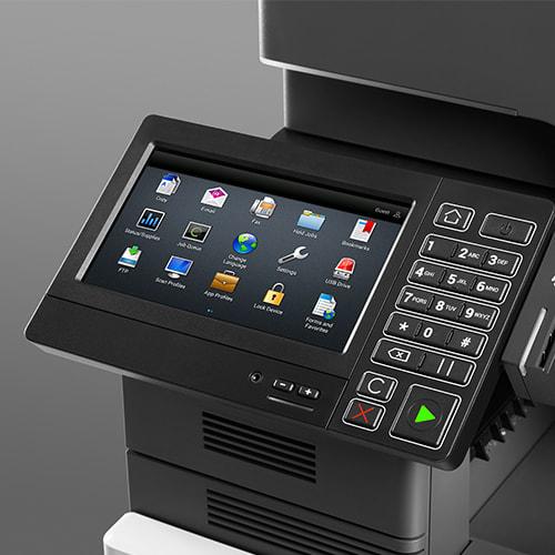 Lexmark XC4140 control panel