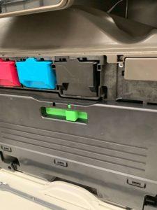 waste toner location on a sharp photocopier