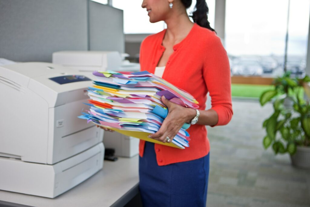 photocopiers in office